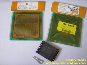 Gambar 2. IC CPLD dan PCB konversi