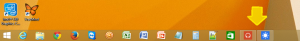 2. Running apps in taskbars.
